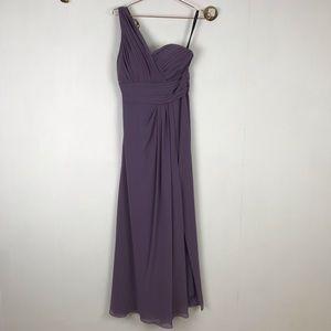 Bill Levkoff One Shoulder Formal Bridesmaid Dress